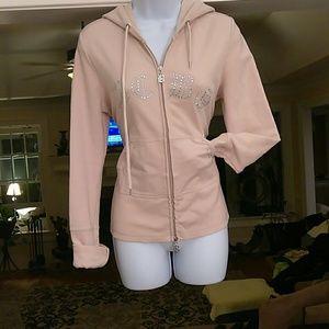 BCBGMAXAZRIA ladies front zipper hoodie